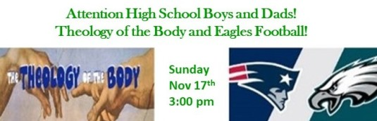 Theology of the body and Eagle football