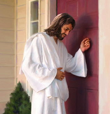 Jesus doorknocking